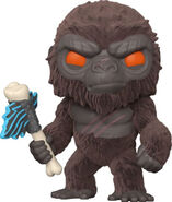 Flocked Kong with Battle Axe