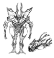 Concept Art - Godzilla 2000 Millennium - Orga 45