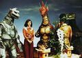 Something funny is going on with Godzilla MechaGodzilla Titanosaurus Giant Monsters All-Out Attack, you better check