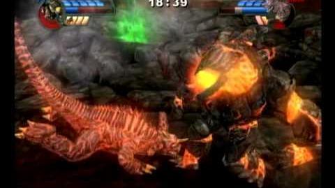 Godzilla Unleashed - Obsidius vs Baragon
