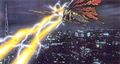 Concept Art - Godzilla vs. Mothra - Battra Imago Beams 1