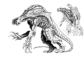 Concept Art - Godzilla 2000 Millennium - Orga 101