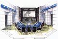 Concept Art - Godzilla vs. MechaGodzilla 2 - G-Force Command Center 2
