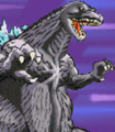 Gojira Kaiju Dairantou Advance - Battle Sprites - Godzilla