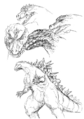Concept Art - Godzilla 2000 Millennium - Godzilla 23