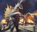 GVG - Gigan and King Ghidorah in the City