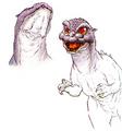 Concept Art - Godzilla vs. MechaGodzilla 2 - Baby Godzilla 8
