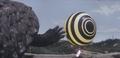 Gamera - 4 - vs Viras - 13 - Gamera is concerned as spaceship no. 2 flies away