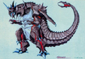 Concept Art - Godzilla vs. Destoroyah - Destoroyah 11