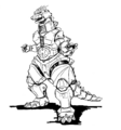 Concept Art - Godzilla Against MechaGodzilla - Kiryu 28
