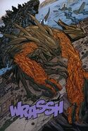 MUTO Prime huyendo de Godzilla.