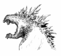 Concept Art - Godzilla 2000 Millennium - Godzilla 10