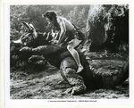 Baragon Fighting Frankenstein