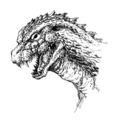 Concept Art - Godzilla 2000 Millennium - Godzilla Head 6
