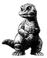 Concept Art - Godzilla vs. SpaceGodzilla - Little Godzilla 2