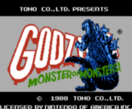 NES- Godzilla monsters or monsters
