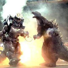 Godzilla fighting Kiryu behind scenes.jpg