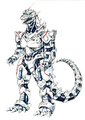 Concept Art - Godzilla Against MechaGodzilla - Kiryu 57