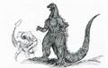 Concept Art - Godzilla vs. Destoroyah - Godzilla Junior 4