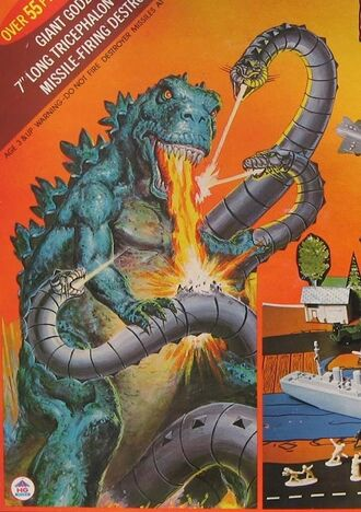 Tricephalon as it is seen on the boxart of Godzilla Battles the Tricephalon
