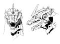 Concept Art - Godzilla Against MechaGodzilla - Kiryu Head 2
