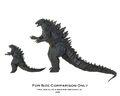NECA Godzilla (6-inch) and NECA Godzilla (12-inch) Comparison 01