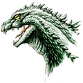 Concept Art - Godzilla 2000 Millennium - Godzilla Head 9