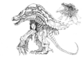 Concept Art - Godzilla 2000 Millennium - Orga 98