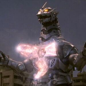 Godzilla Against MechaGodzilla-Kiryu charging his Absolute Zero Cannon.jpg