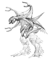 Concept Art - Godzilla 2000 Millennium - Orga 47
