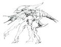 Concept Art - Godzilla 2000 Millennium - Orga 49