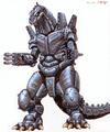 Concept Art - Godzilla Against MechaGodzilla - Kiryu 7