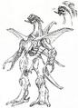 Concept Art - Godzilla 2000 Millennium - Orga 7