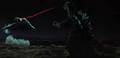 Godzilla vs. Hedorah 5 - Hedorah shoots a beam