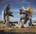 GVM - Gigan and Megalon Beating Up Jet Jaguar