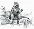 Concept Art - Godzilla vs. Destoroyah - Godzilla Junior 7
