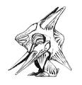 Concept Art - Godzilla 2000 Millennium - Orga 28