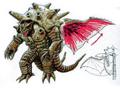 Concept Art - Mothra vs. Bagan - Bagan 15