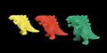 Godzilla Planet of the Monsters - Eraser-like Godzilla figures