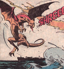 Batragon as it is seen in Godzilla: King of the Monsters #4