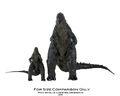 NECA Godzilla (6-inch) and NECA Godzilla (12-inch) Comparison 02
