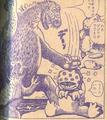 Godzilla bashes Gyottos on the head