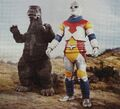 GVM - Godzilla and Jet Jaguar Side by Side