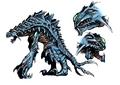 Concept Art - Godzilla 2000 Millennium - Orga 13