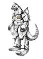 Concept Art - Godzilla Against MechaGodzilla - Kiryu 35
