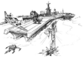 Concept Art - Godzilla vs. MechaGodzilla 2 - G-Force Base