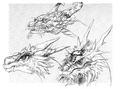 Concept Art - Yamato Takeru - Orochi Head 2