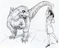 Concept Art - Godzilla vs. MechaGodzilla 2 - Baby Godzilla 4