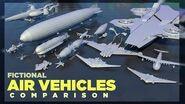 ✈️ Fictional AIR VEHICLES Size Comparison (3D)