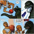 Charles Barkley vs Godzilla - Godzilla is a sore loser